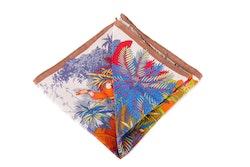Silk Tucano - White/Blue/Orange/Beige