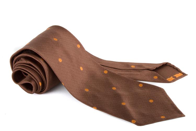 Silk Polka Dot Untipped - Brown/Orange