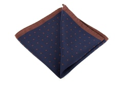 Silk Polka Dot - Navy Blue/Brown