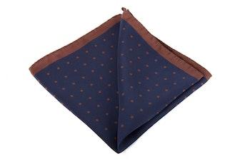 Silk Polka Dot - Navy Blue/Brown