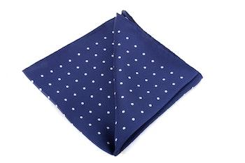 Silk Polka Dot - Navy Blue/White