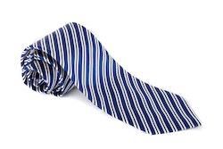 Regimental Silk Tie - Navy Blue/White