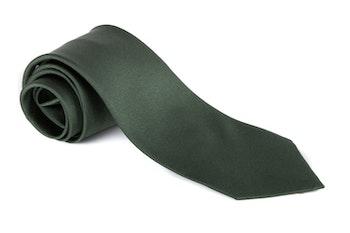Solid Silk Tie - Dark Green