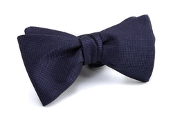 Self tie Silk Solid - Navy Blue