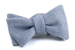 Solid Grenadine Bow Tie - Light Blue