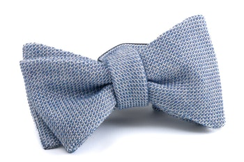 Solid Grenadine Bow Tie - Light Blue