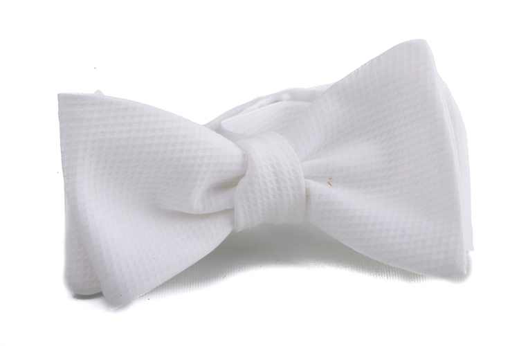 Self tie Cotton Solid - White