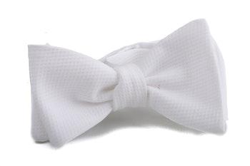 Self tie Cotton Solid - White