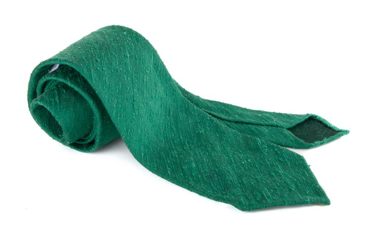 Solid Shantung Tie - Untipped - Green