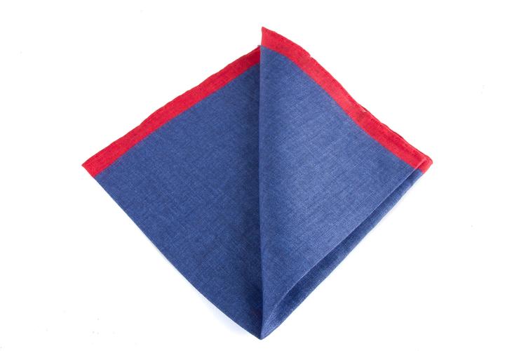 Linen Candy Stripe - Navy Blue/Red