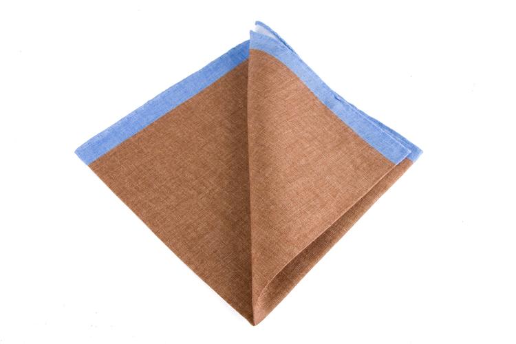 Linen Candy Stripe - Brown/Light Blue