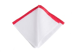 Linen Candy Stripe - White/Red