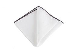 Linen Candy Stripe - White/Dark Grey
