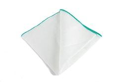 Linen Candy Stripe - White/Aqua