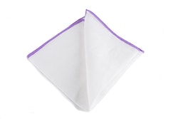 Linen Candy Stripe - White/Light Purple