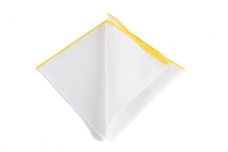 Linen Candy Stripe - White/Yellow