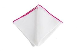 Linen Candy Stripe - White/Cerise