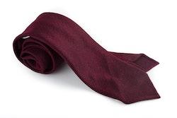Solid Silk Tie - Untipped - Burgundy