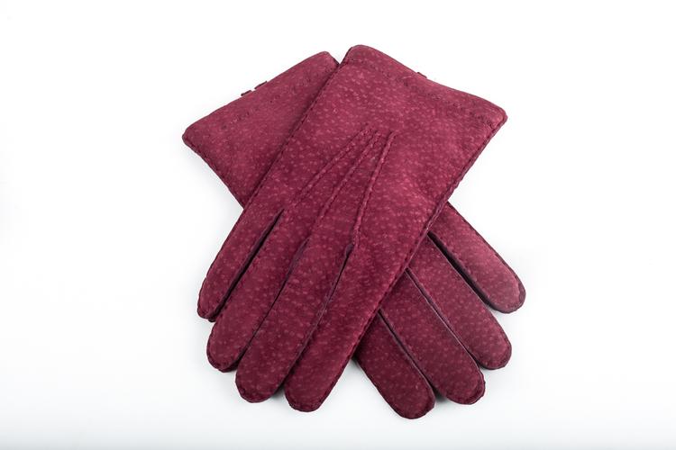 Carpincho Gloves - Burgundy