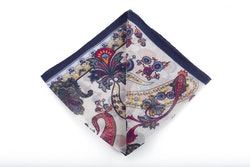 Cashmere/Cotton Paisley - Navy Blue/Red/Yellow/Grey/Light Blue/Off White