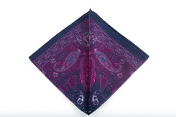 Cashmere/Cotton Paisley - Navy Blue/Cerise