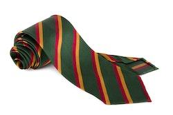 Silk Regimental Untipped - Green/Red/Mustard