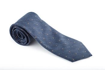 Silk/Cotton Floral - Blue/Beige