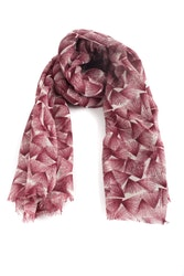 Wool Floral - Burgundy/Grey