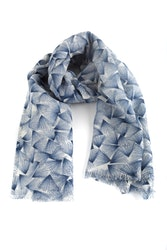 Wool Floral - Navy Blue/Grey