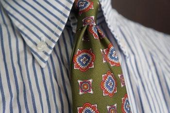 Pinstripe Oxford Shirt - Button Down - Navy Blue/White