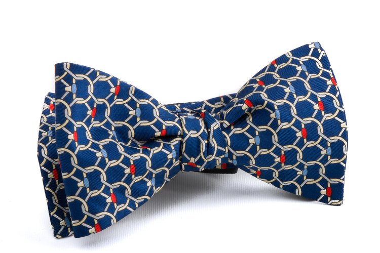 Self tie Silk Floral - Navy Blue/Beige/Grey/Red