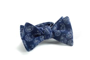Self tie Wool Paisley - Grey