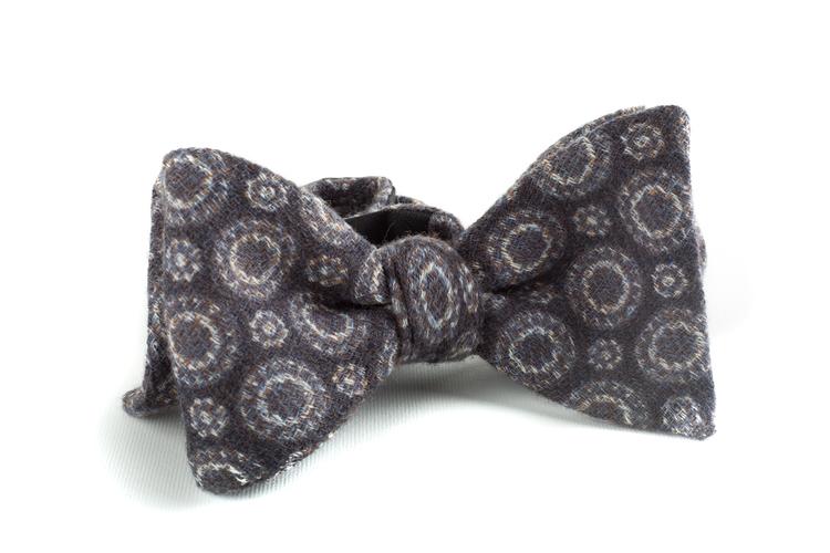 Self tie Wool Circular - Grey