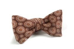 Self tie Wool Circular - Brown/Beige