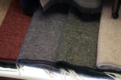 Herringbone Lambswool Scarf - Green