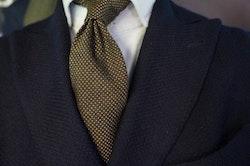 Wool Pindot - Brown/Grey