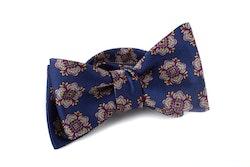 Self tie Silk - Navy Blue/Grey/Purple