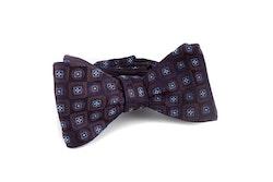 Self tie Silk Floral - Navy Blue/Brown/Light Blue