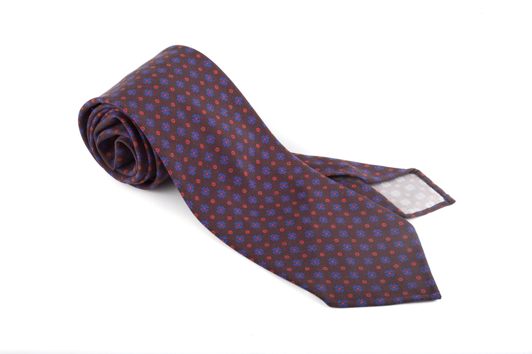 Madder Floral Untipped - Brown/Blue/Red