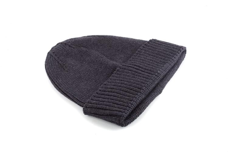 Cap Wool Rib - Dark Grey