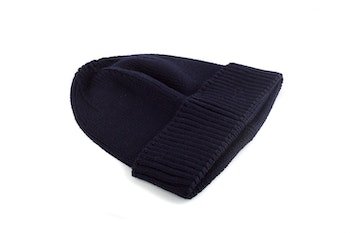 Cap Wool Rib - Navy Blue