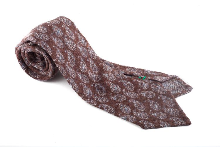 Wool Untipped Paisley - Brown/Grey