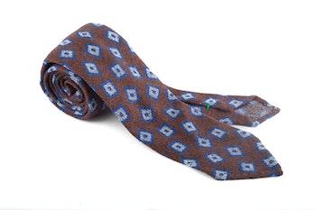Wool Untipped Squares - Brown/Blue
