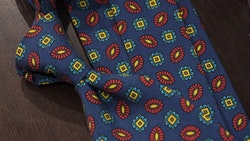 Madder Medallion Untipped - Navy Blue/Yellow/Red/Turquoise