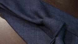 Solid Wool Untipped Tie - Navy Blue