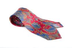 Printed Paisley Untipped - Red/Mid Blue/Beige