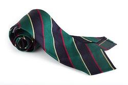 Silk Regimental Untipped - Green/Navy Blue/Red/Gold