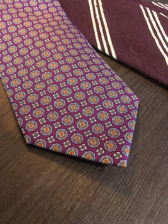 Printed Medallion - Purple/Beige/Orange/Light Blue