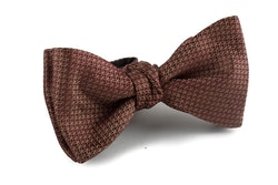 Solid Grenadine Bow Tie - Dark Brown