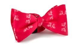 Self tie Silk Lion - Cerise/Pink